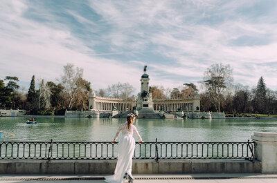Amor sobre patines: un look rompedor para una novia estilosa