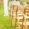 Decoración para los asientos de la boda