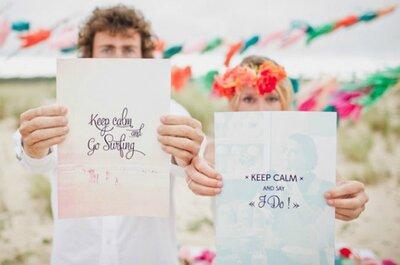 L'esercito del surf! Matrimonio in spiaggia, da perfetti surfers