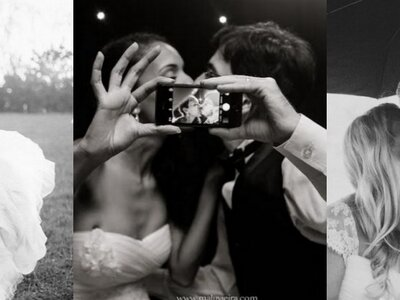 24 fotos de beijos de recém-casados que te farão desejar dizer