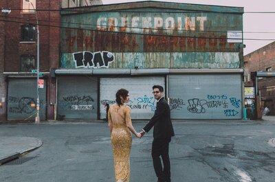 A Rustic Vintage Wedding in an Urban Loft: Maya + Uri say I do in New York