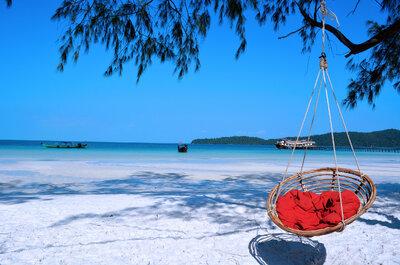 Lune de miel extra : nature et sable blanc sur l'île Ko Rong au Cambodge