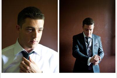 Trajes de noivo em tons escuros de casamentos reais