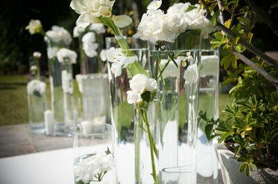 Las 10 formas más bonitas de presentar las flores en tu boda