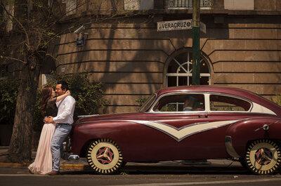 La sesión de fotos pre boda más cool: ¡De paseo en la Condesa!