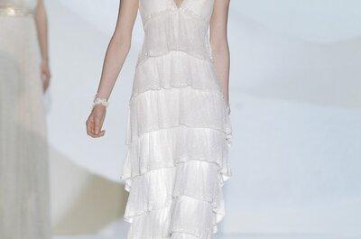 Dale movimiento a tu camino hacia el altar: Vestidos de novia 2015 con elegantes y divertidos flecos