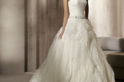 Flattering Belted Wedding Dresses Ever-present in Spring 2012 Bridal