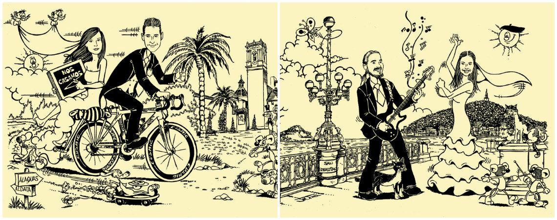 Serigrafía El Coyote: Creating Very Original Wedding Invitations with your Caricature as the Protagonist!