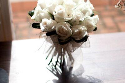 8 bouquets de mariée blancs