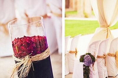 3 Ideas originales para decoración de boda con arreglos florales
