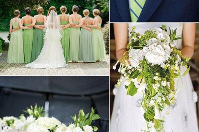 Como decorar um casamento em tons de verde?