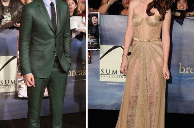 Inspírate en el look de Kristen Stewart y Robert Pattinson para una boda elegante