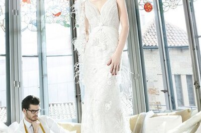 Robes de mariée avec des fleurs