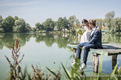 Camille + Clément : leur joli mariage aux tons jaunes, verts et bleus dans le Pas-de-Calais