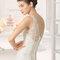 Hochzeits-Kleid: Brautkleid mit durchsichtigem Ausschnitt