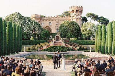 Destination Wedding: Boda en un castillo de Barcelona, España
