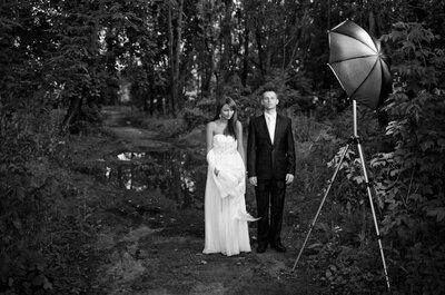 Czarno-białe fotografie na ślubie