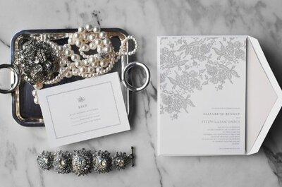Oscar de la Renta crea una colección de invitaciones de boda