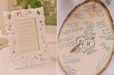 Dale a tu boda un toque rústico chic con detalles en madera