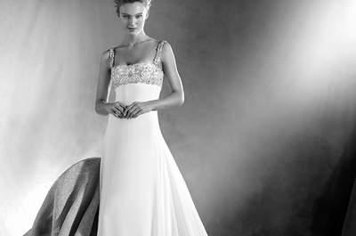 Vestidos de noiva com decote quadrado 2017: um eterno clássico!