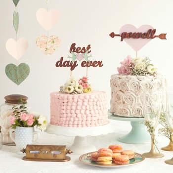 Topos para bolo de casamento 2017: originais e personalizados