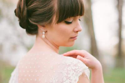 Peinados de novia con flequillo 2016: luce perfecta el día de tu boda