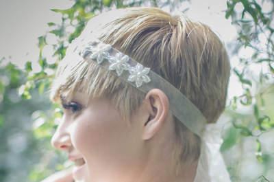 Lindos penteados para noivas com cabelos curtos