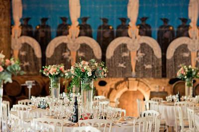 Las 70 ideas más extraordinarias para decorar las mesas del banquete de bodas 2016