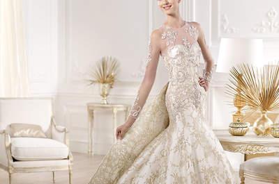 Langärmlige Brautkleider 2014 von spanischen Designern