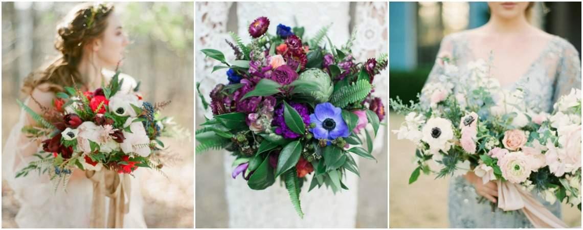 Anémonas para tu ramo de novia, ¡una tendencia que te encantará!