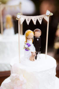 Originales figuras para las tortas de matrimonio