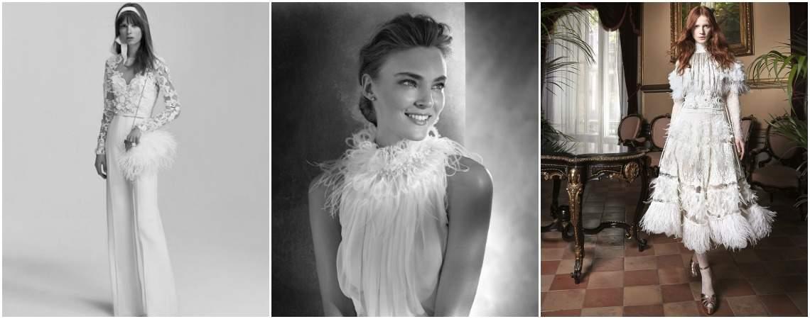 Plumas em dia de casamento: sofisticação e romantismo para a noiva que se quer perfeita!