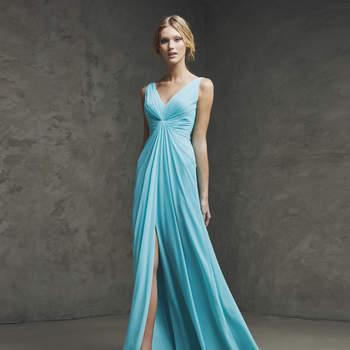Preciosos vestidos de fiesta de color azul 2016