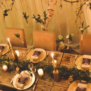 Un mariage bohème en hiver : inspiration cocooning, végétale et hivernale