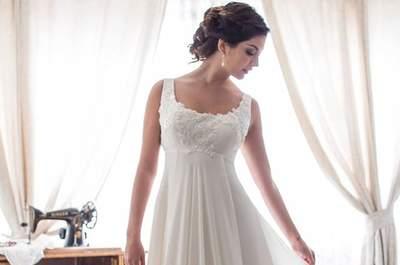 Vestidos de novia escote redondo 2017. ¡Luce un escote clásico y elegante!
