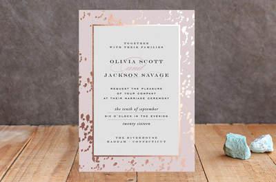 Las más lindas invitaciones de boda en color rosa: Estilo y romance ¡al máximo!