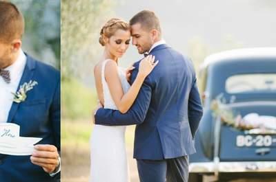 Descubra uma das mais espectaculares inspirações para noivos românticos!
