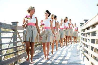 Vestidos de colores para las damas de honor