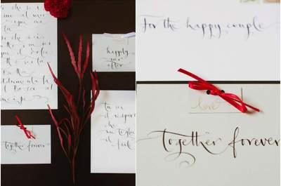 Ihre Hochzeit 2015 und die Wunderwaffe in Sachen Hochzeitdekoration: Kalligraphie, verzaubern Sie mit besonderen Worten!