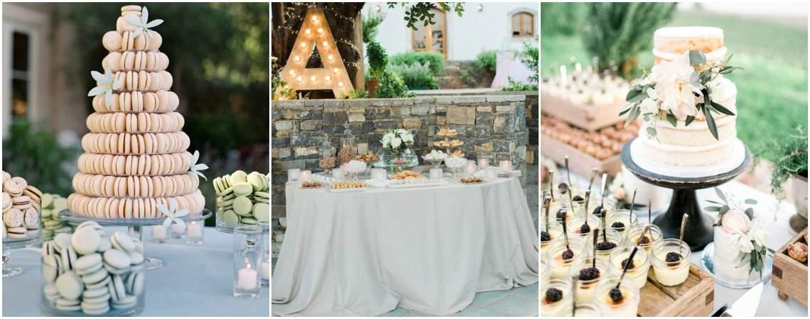 20 oryginalnych inspiracji na słodkie stoły ślubne. Przepyszne!