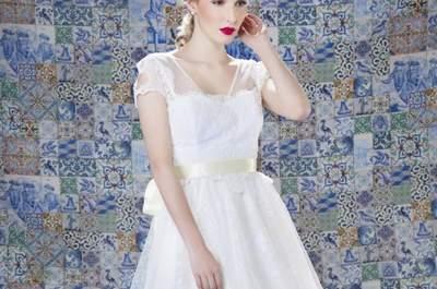 Vestidos de noiva curtos 2017: elegantes, confortáveis e alegres!