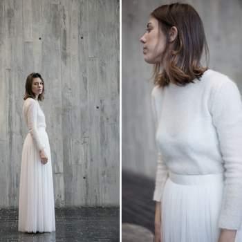 Espectaculares vestidos de novia de dos piezas 2017. ¡Divide y arrasa!