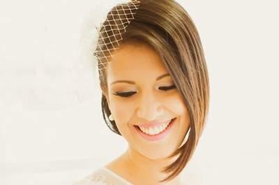 Penteados para noivas de cabelos curtos 2016: lindos, modernos e estilosos!