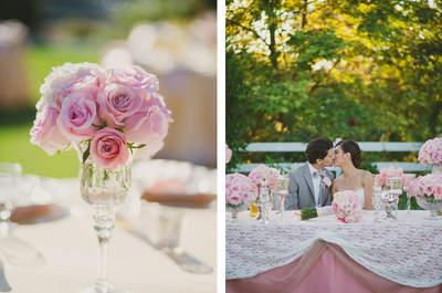 Seleção dos mais lindos centros de mesa para seu casamento