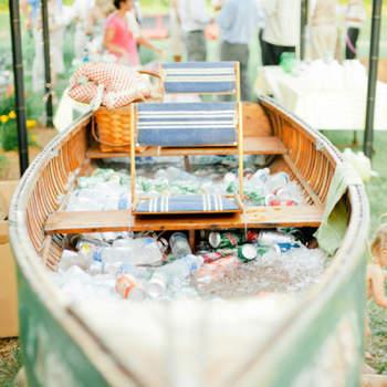 Ideias charmosas para gelar as bebidas em casamentos no verão!