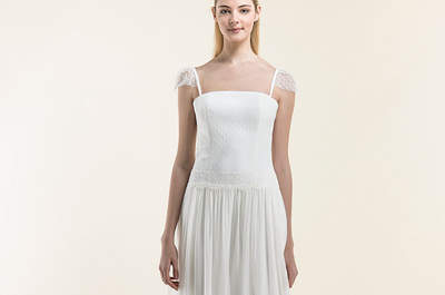 Vestido de novia con escote cuadrado: tendencias 2016 ¡que arrasarán!