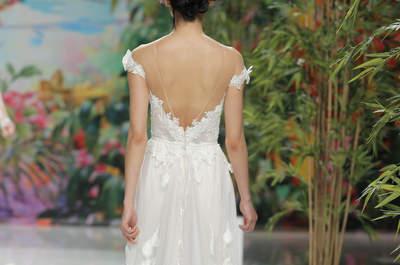 55 vestidos de novia con escote a la espalda 2017: ¡los querrás todos!