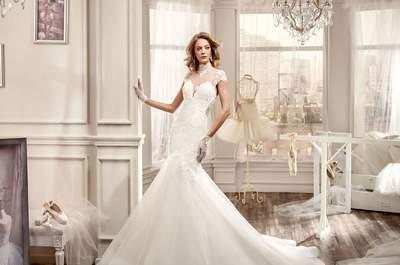 Vestidos de noiva com gola alta para 2016: ideais e românticos