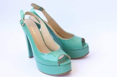 Zapatos de novia de color 2017, los mejores accesorios para contrastar tu vestido de novia