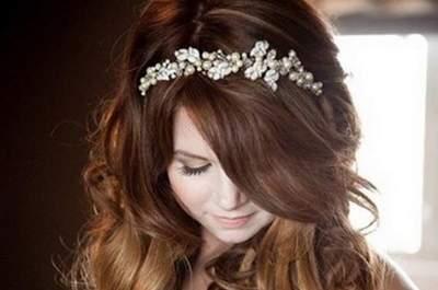 Penteados de noiva com pérolas: inspire-se!